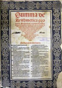 In seinem Mathemtiklehrbruch von 1494 beschreibt der Moench Luca Pacioli erstmals die doppelte Buchfuehrung die schon seit rund 200 Jahren in Verwendung ist scaled