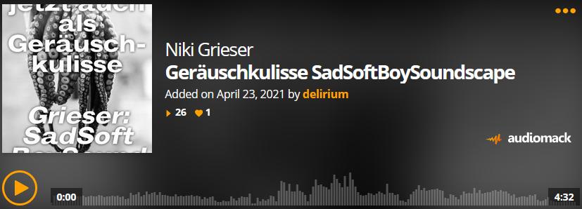 delirium mit Audioliteratur: Niki Griesers Geräuschkulisse SadSoftBoySoundScape